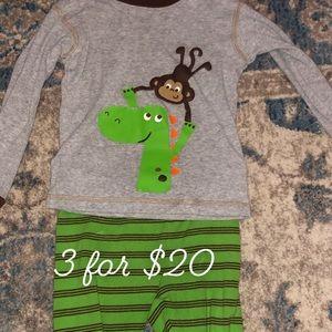 Carter's 2 piece monkey PJs. Size 24M. 3 for $20